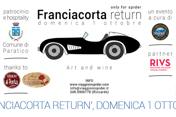 Franciacorta return, only for spider (domenica 1 ottobre 2017)