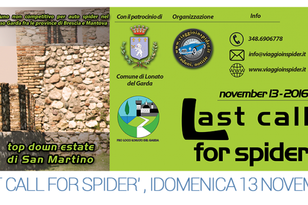 'Last call for spider', domenica 13 novembre